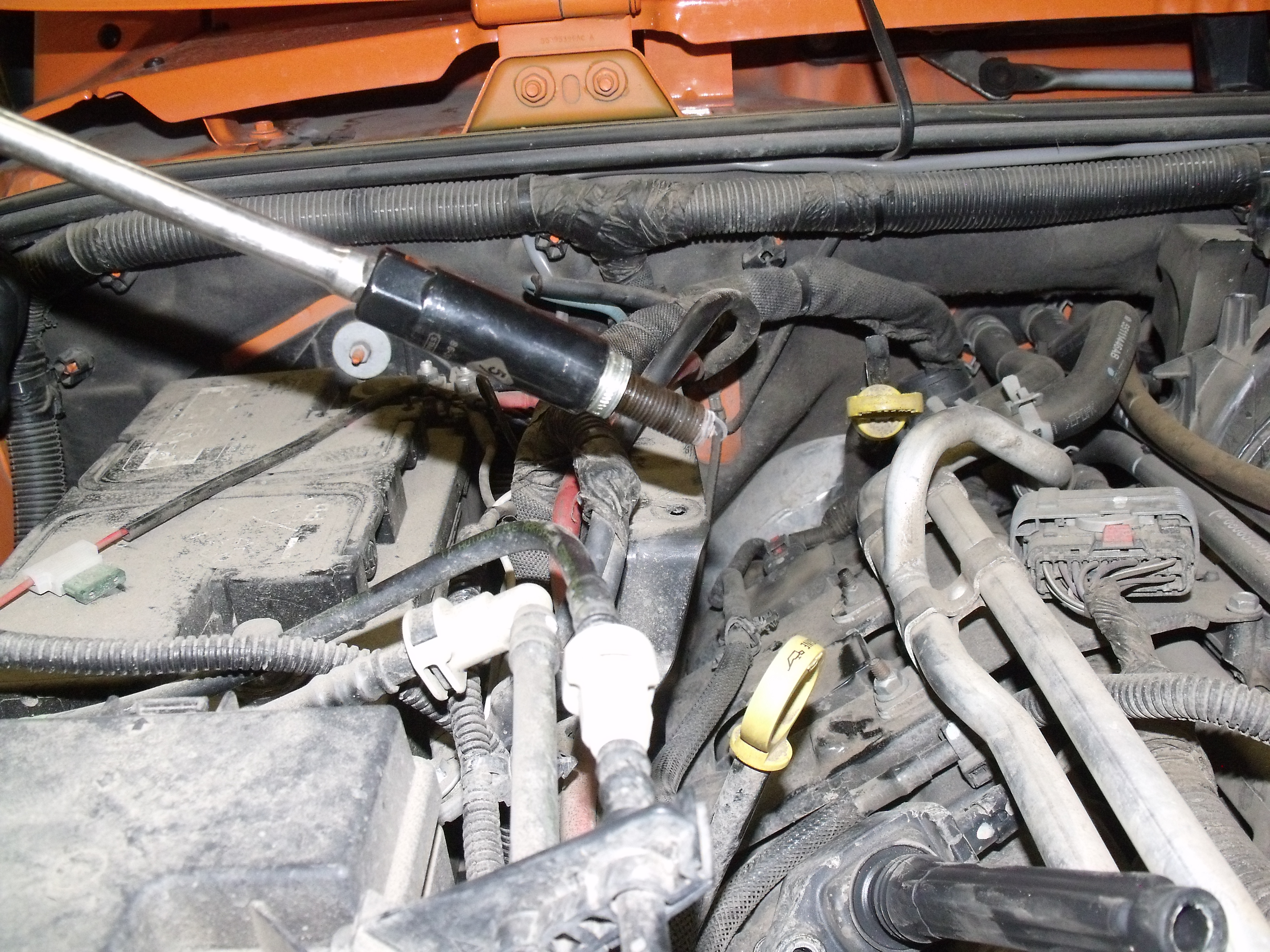Jeep Wrangler Jk 2007 To 2015 How Replace Spark Plugs Forum 2013 Engine Wire Harness Figure 13 Plug Removed